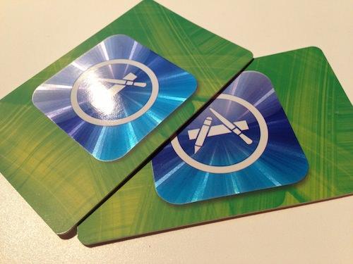 二枚目半額のiTunesカード