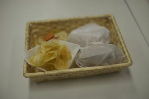 懇親会の場で提供した軽食たち